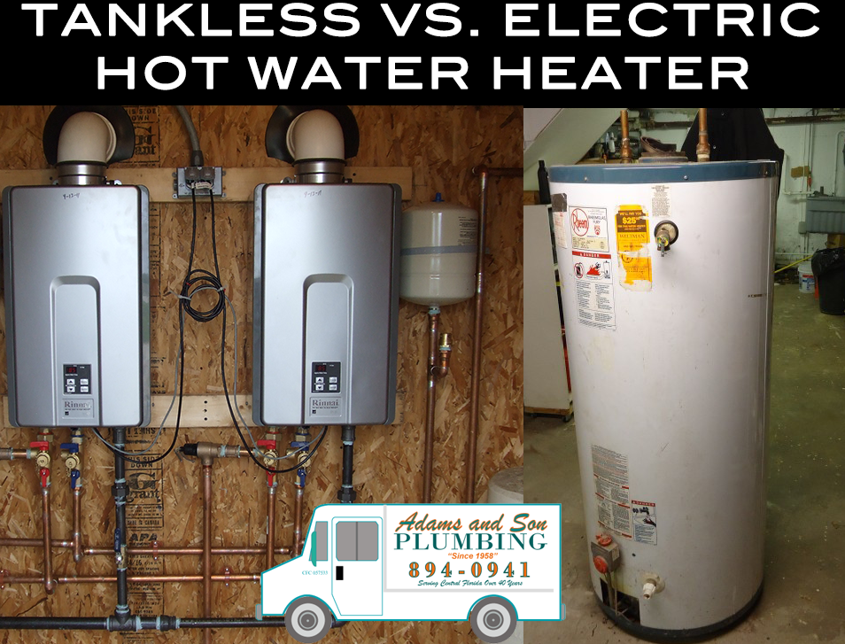 Instant Hot Water Heater : Traditional electric vs tankless hot water heaters